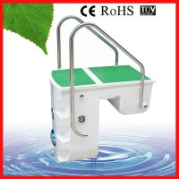 Pipeless pool filter pump combo