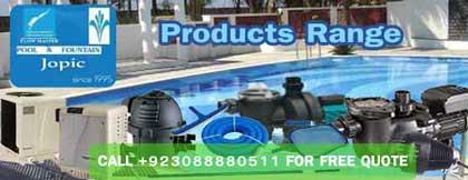 Swimming Pool Product Range - Pakistan